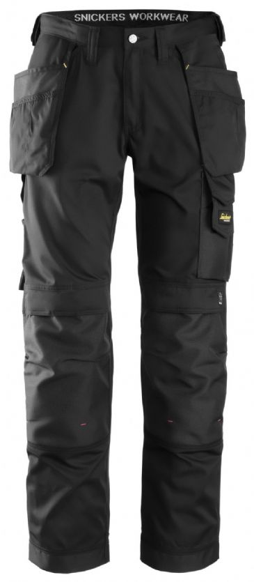 Snickers 3211 CoolTwill Craftsmen Holster Pocket Trousers (Black)